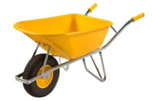 Kruiwagen 100 liter geel Fort