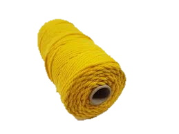Touw 200 meter geel 2 mm