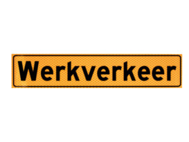 Sticker (werkverkeer) 40 x 8 cm