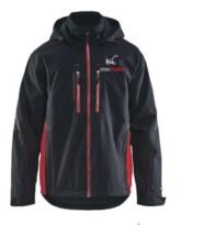 Winterjas Knikmops zwart/rood mt XL