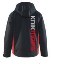 Winterjas Knikmops zwart/rood mt 3XL
